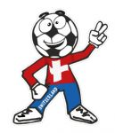 Novelty FOOTBALL HEAD MAN With Switzerland Swiss Flag Motif For Football Soccer Team Supporter Vinyl Car Sticker 100x85mm